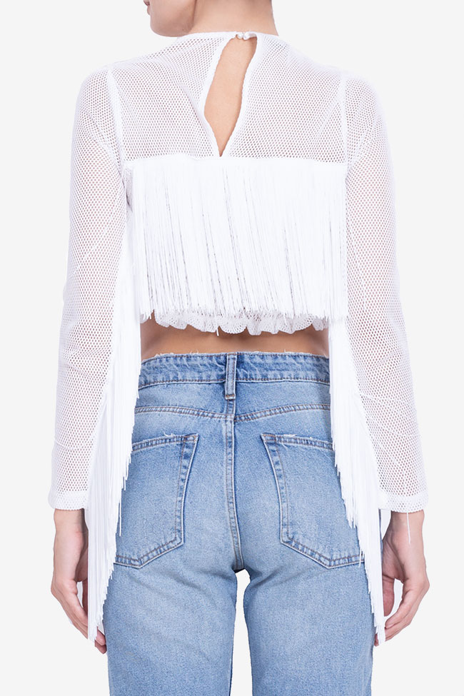 Bluza scurta din plasa cu franjuri BADEN 11 imagine 2
