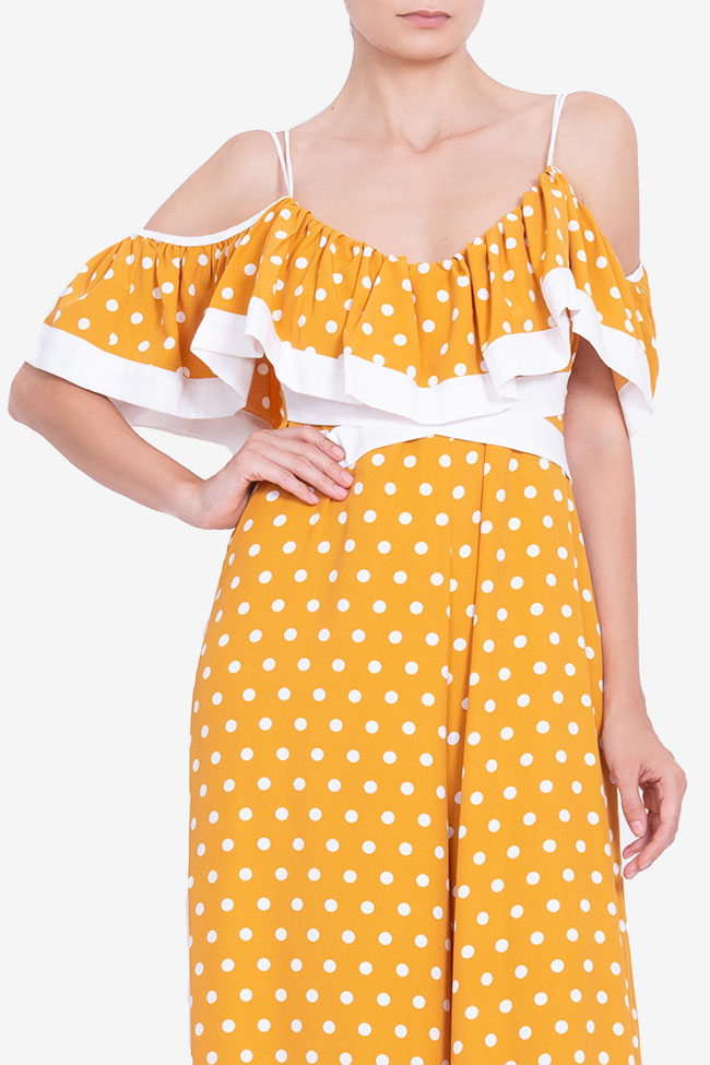 Polka-dot cold-shoulder wide leg jumsuit BADEN 11 image 3