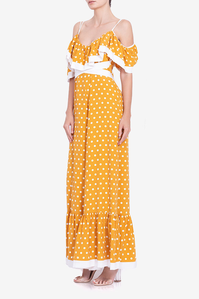 Polka-dot cold-shoulder wide leg jumsuit BADEN 11 image 1