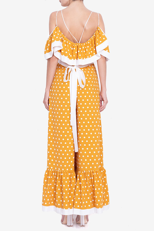 Polka-dot cold-shoulder wide leg jumsuit BADEN 11 image 2