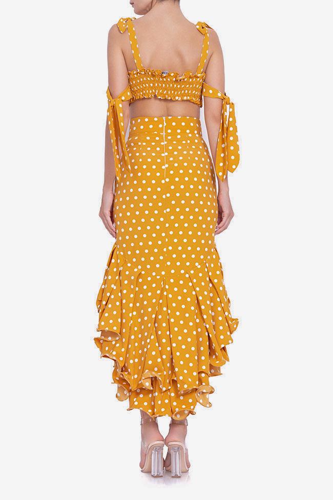 Polka-dot top and skirt set BADEN 11 image 2