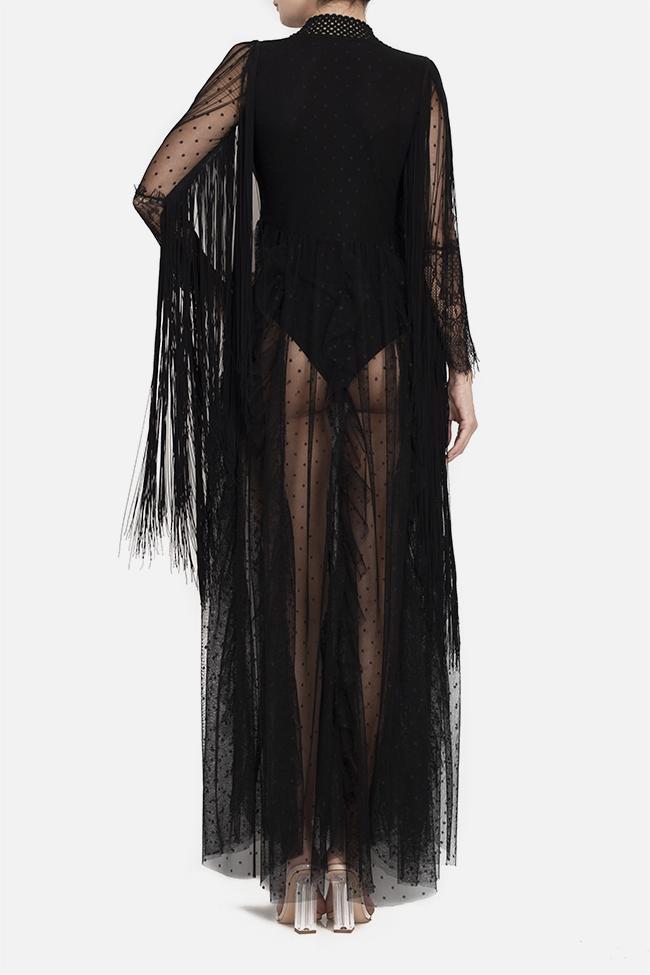 Robe maxi en tulle avec franges appliquées et body en lycra BADEN 11 image 3