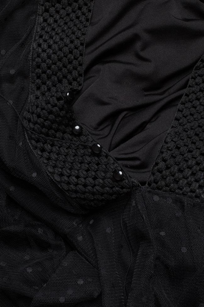Robe maxi en tulle avec franges appliquées et body en lycra BADEN 11 image 4