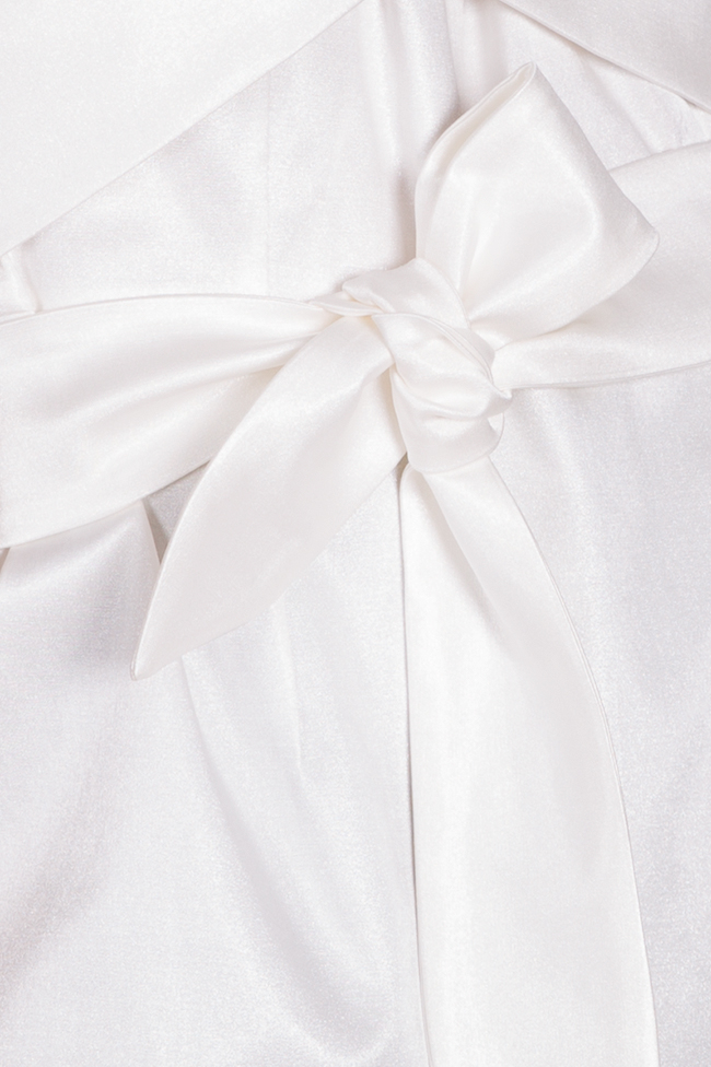 Bluza asimetrica din amestec de bumbac structurat DALB by Mihaela Dulgheru imagine 4