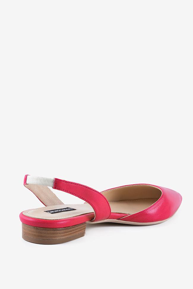 Alice leather point-toe slingback flats Ginissima image 1
