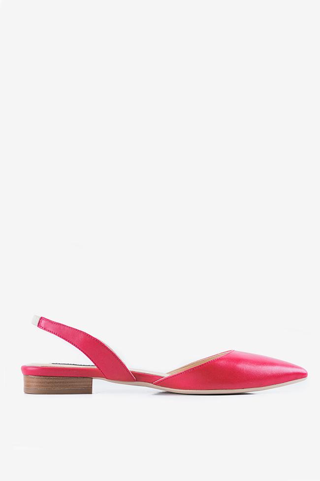 Alice leather point-toe slingback flats Ginissima image 0