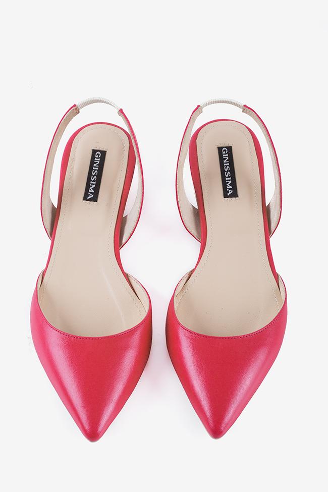 Alice leather point-toe slingback flats Ginissima image 2