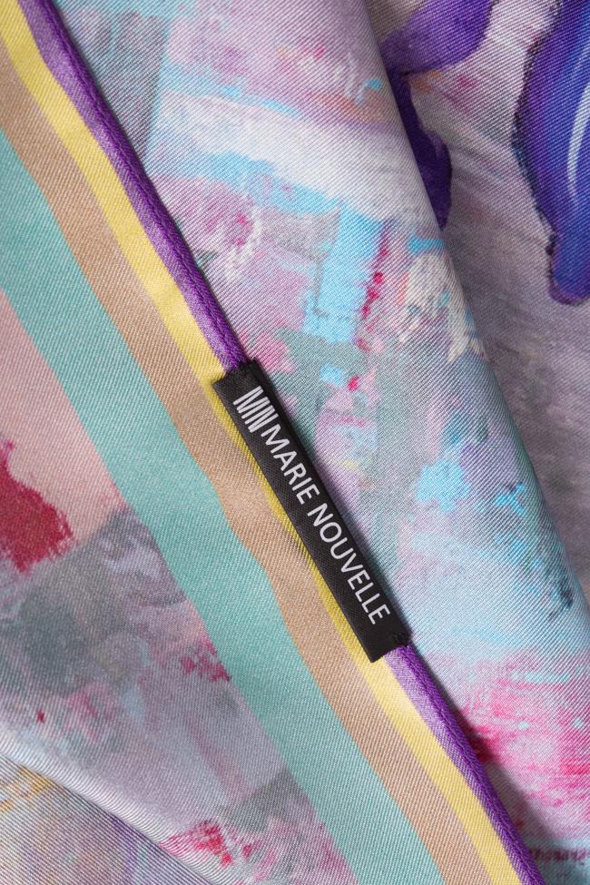 Esarfa din matase Irises Marie Nouvelle imagine 3
