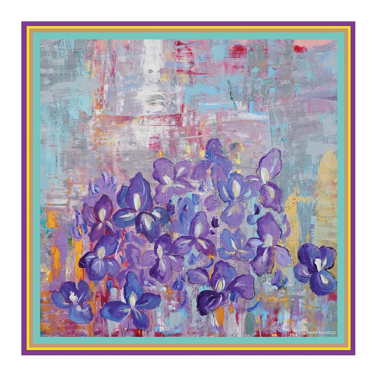 Esarfa din matase Irises Marie Nouvelle imagine 2