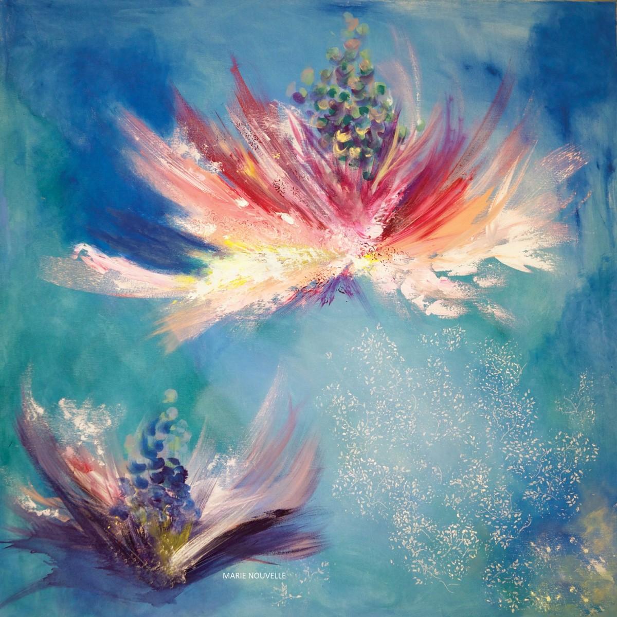 Foulard en soie Flowers Whispers Marie Nouvelle image 2