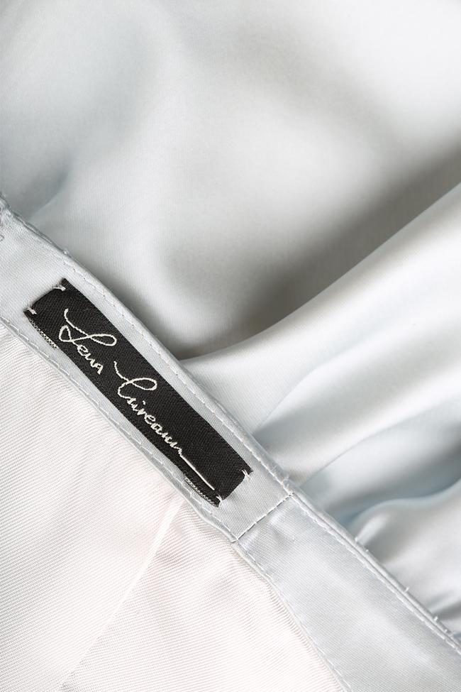 Robe en taffetas avec cordon ample Blue Lena Criveanu image 4