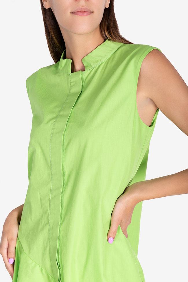 Robe asymétrique en popeline de coton Zania Framboise image 3