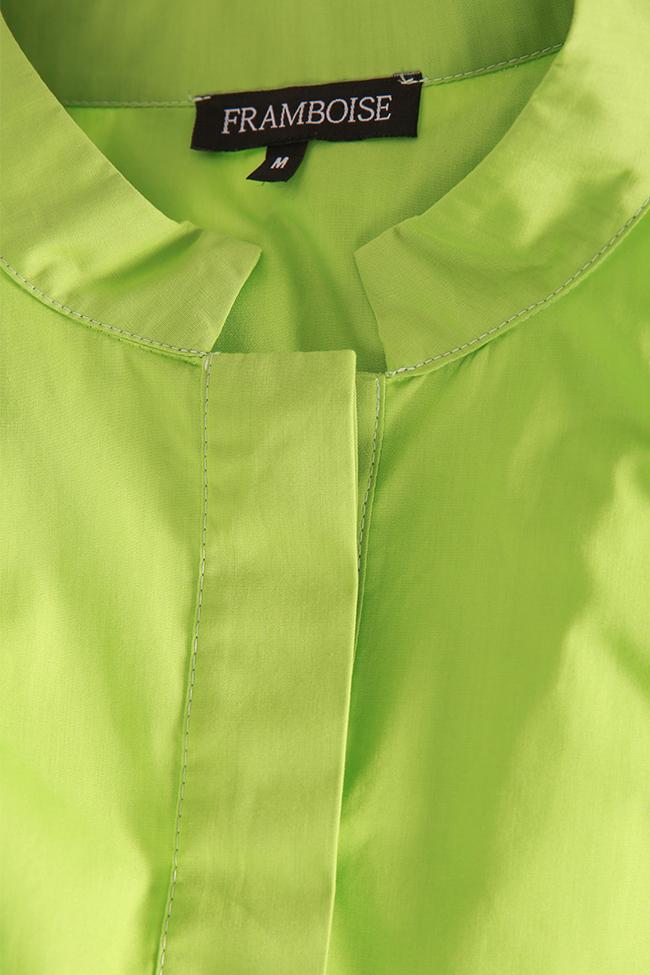 Robe asymétrique en popeline de coton Zania Framboise image 4