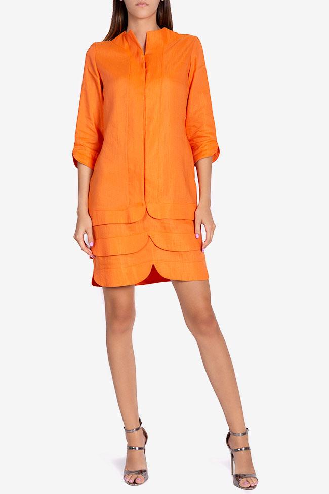 Robe asymétrique en coton Allison Framboise image 1