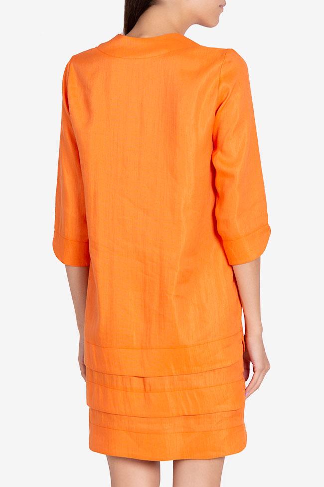 Robe asymétrique en coton Allison Framboise image 2