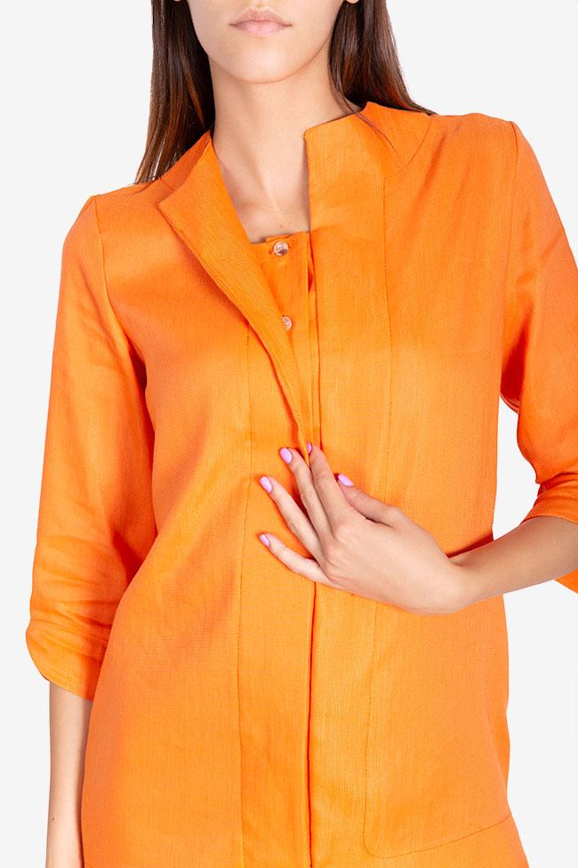 Robe asymétrique en coton Allison Framboise image 3