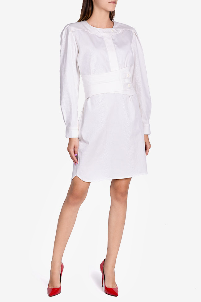 Robe en coton texturé avec ceinture détachable Dali Framboise image 1