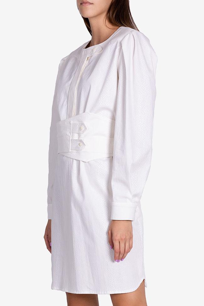 Robe en coton texturé avec ceinture détachable Dali Framboise image 0