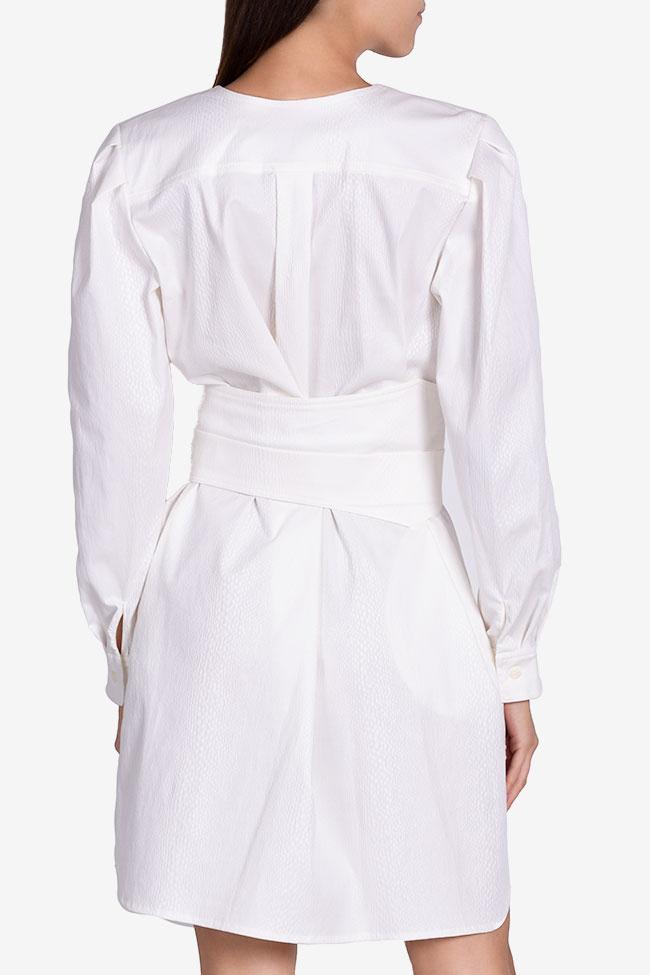 Robe en coton texturé avec ceinture détachable Dali Framboise image 2