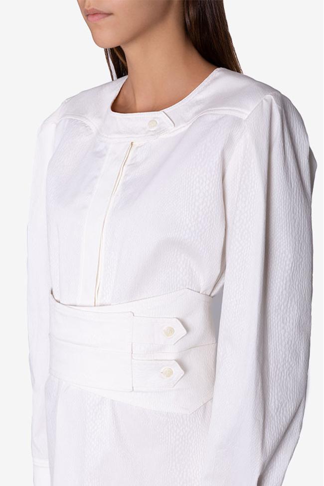 Robe en coton texturé avec ceinture détachable Dali Framboise image 3