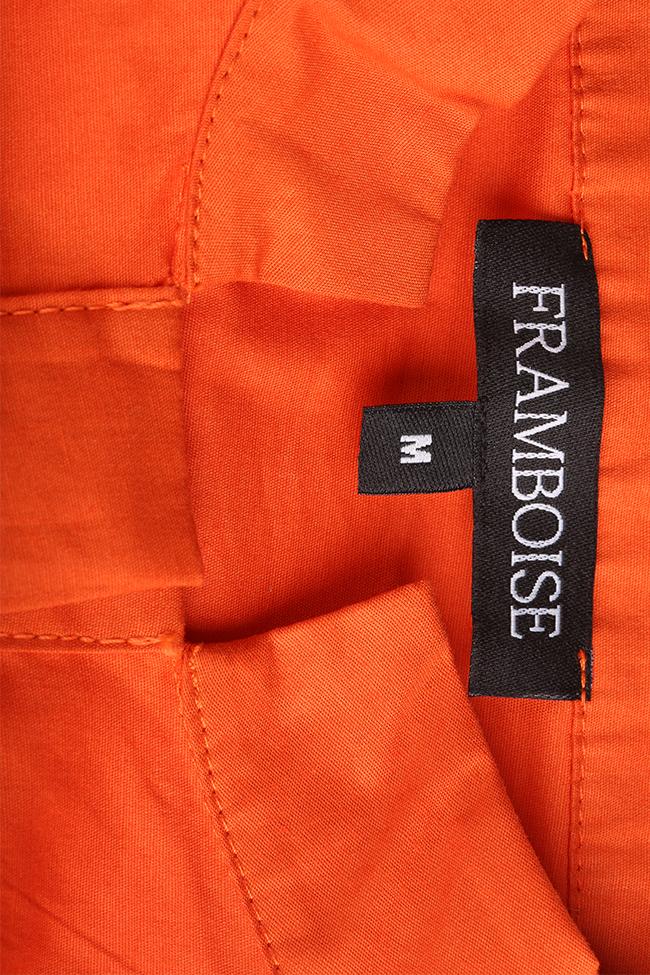 Robe asymétrique en popeline de coton Davina Framboise image 4