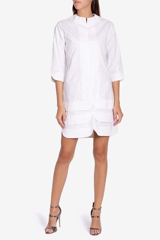 Robe asymétrique en coton Ariana Framboise image 1