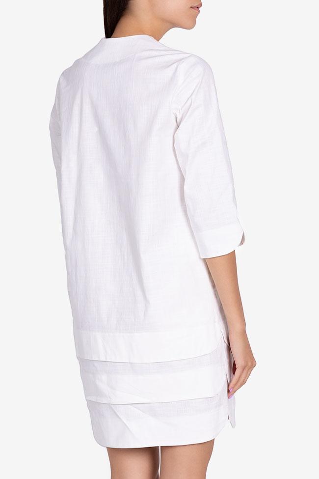 Robe asymétrique en coton Ariana Framboise image 2