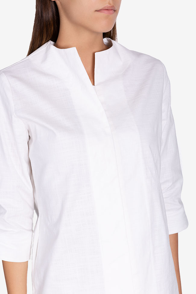 Robe asymétrique en coton Ariana Framboise image 3