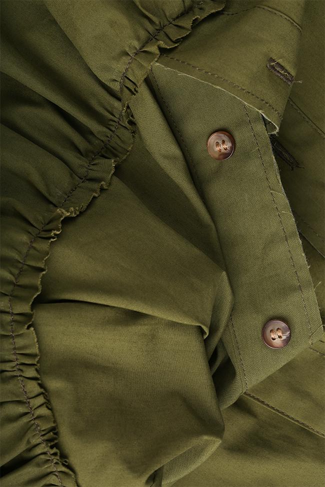 Robe en coton avec volants Framboise image 4