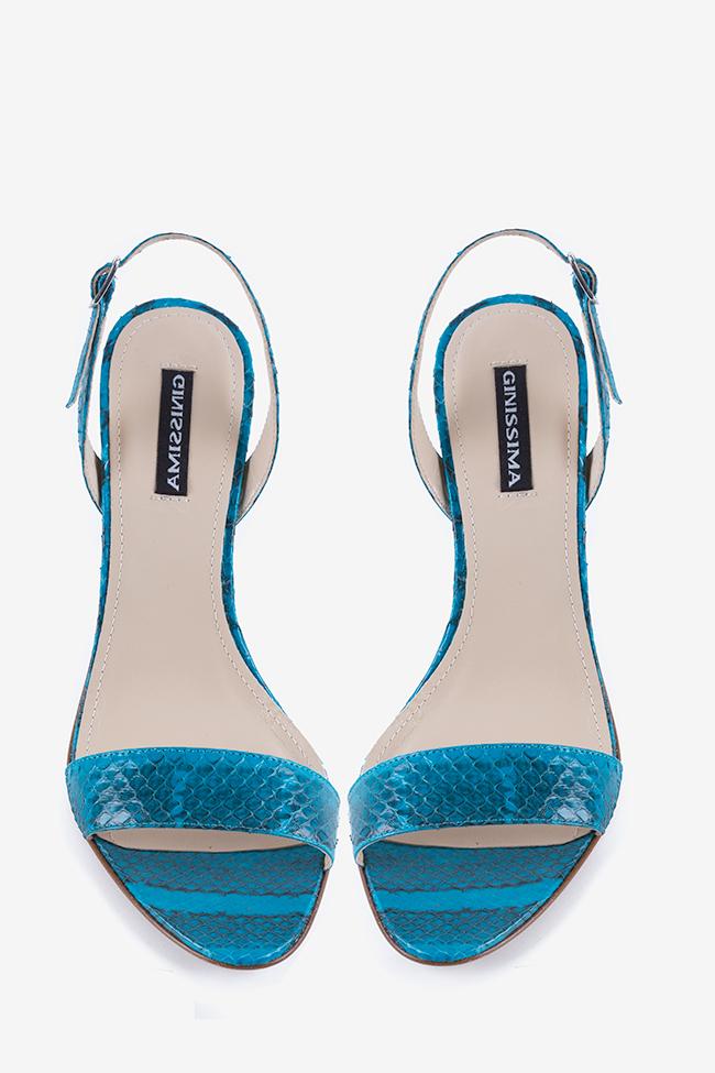 Sandales en cuir type pyton Agata Ginissima image 1