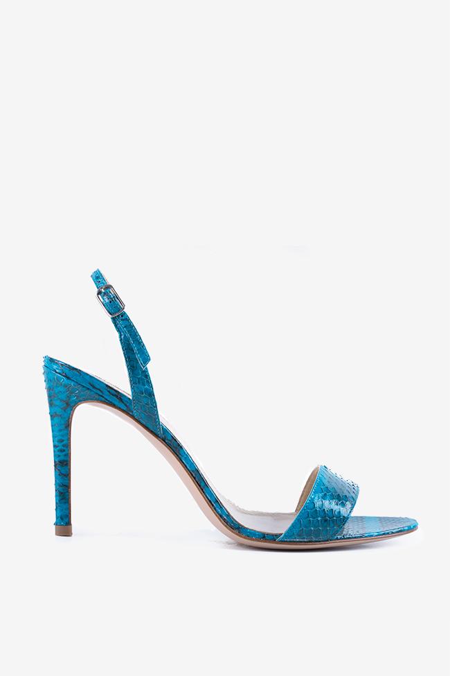 Sandales en cuir type pyton Agata Ginissima image 0