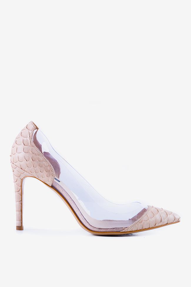 Chaussures en cuir de python et applications en PVC Alice90 Ginissima image 0