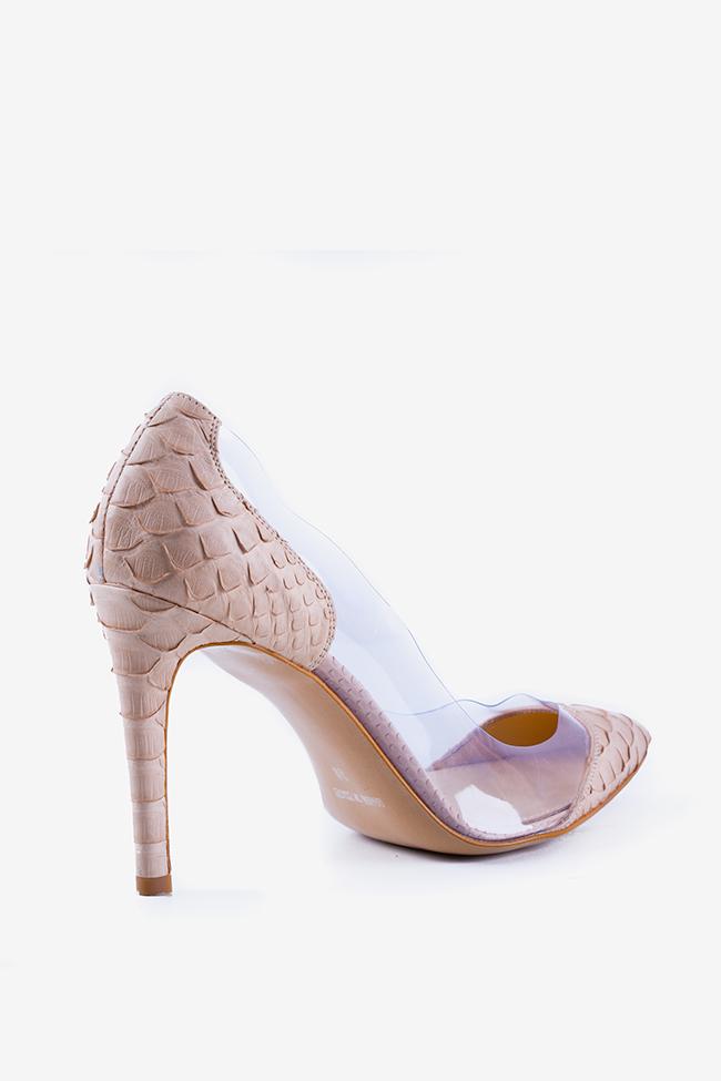 Chaussures en cuir de python et applications en PVC Alice90 Ginissima image 2