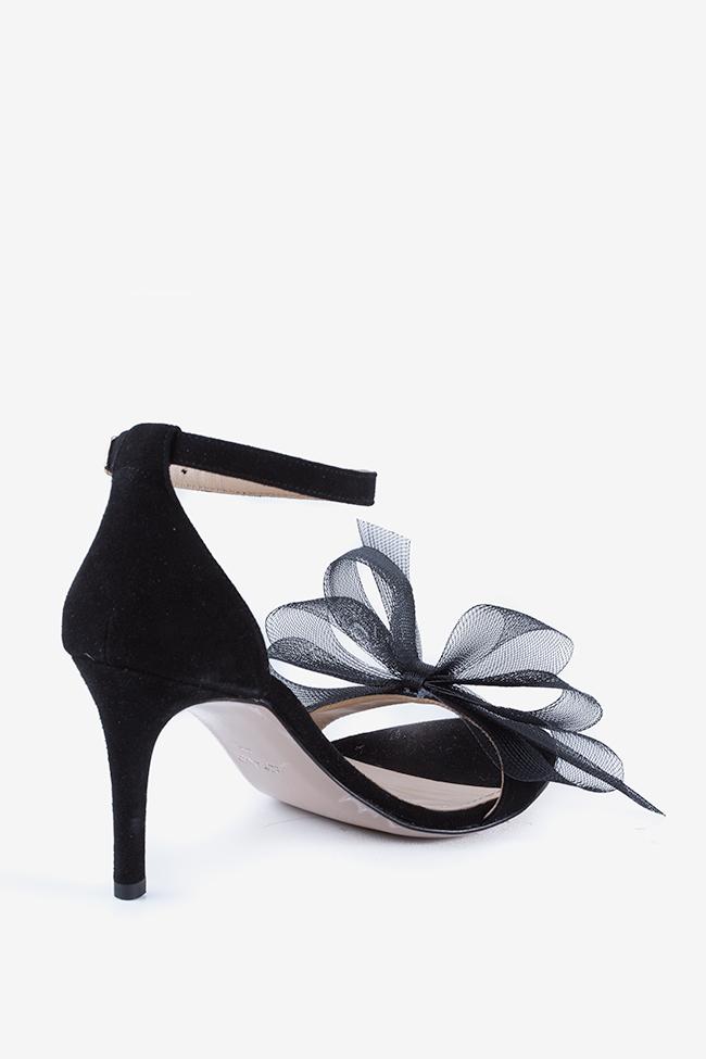 Eva80 tulle bow suede sandals Ginissima image 1