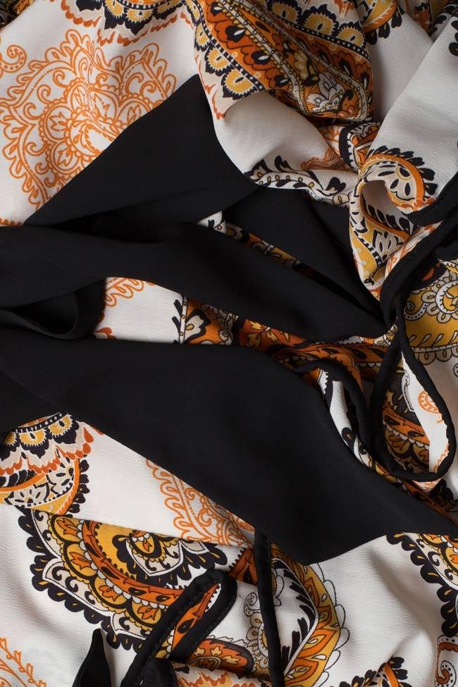 Robe maxi en crêpe avec volants et dos nu BADEN 11 image 4