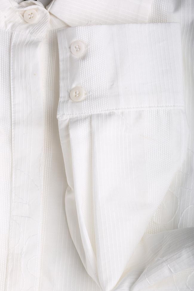 Rochie din bumbac texturat cu centura detasabila Dali Framboise imagine 4