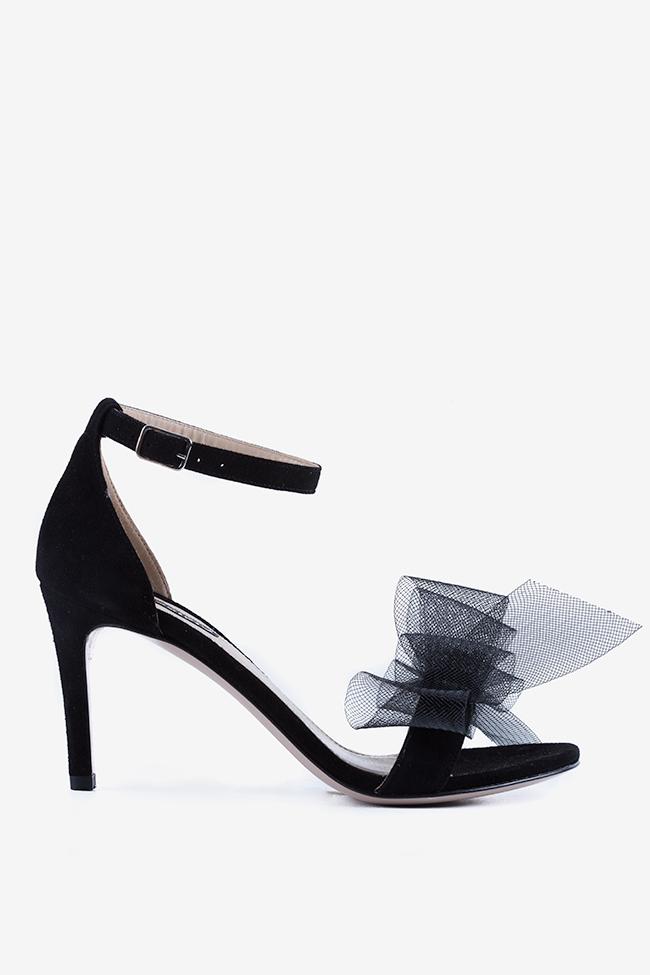 Eva80 tulle bow suede sandals Ginissima image 0