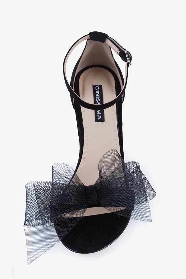 Eva80 tulle bow suede sandals Ginissima image 2