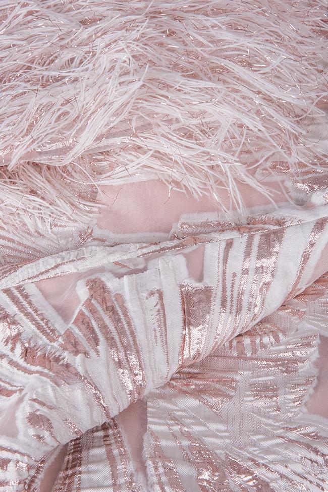 Robe en organza en mélange de soie aux franges Carmen Ramona Belciu image 4