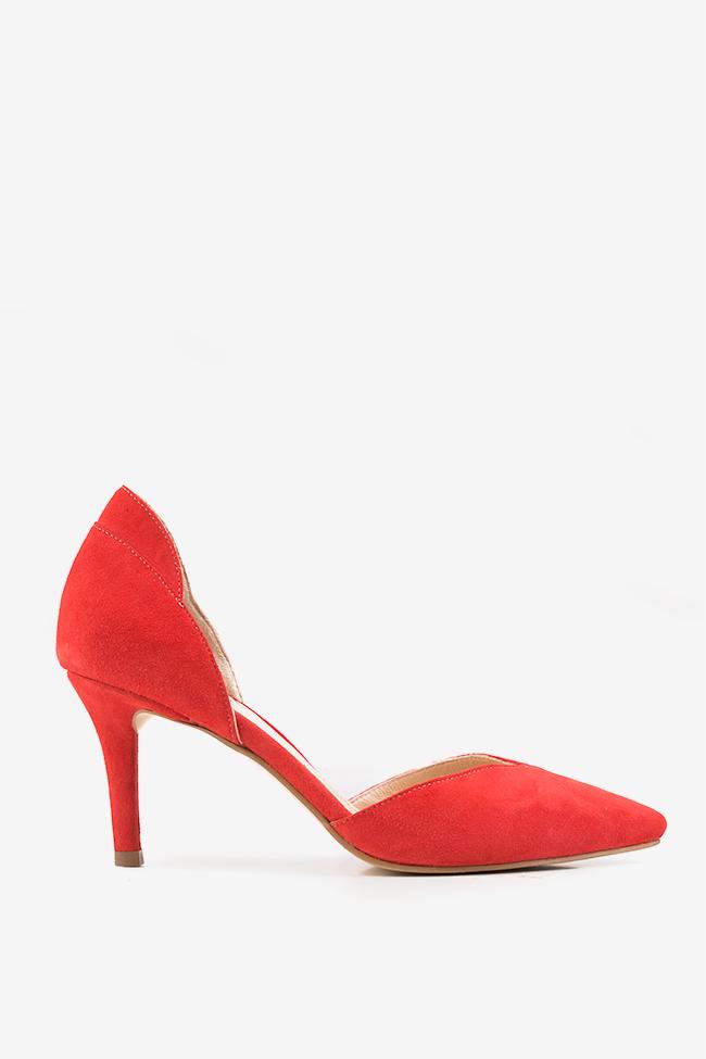 Pantofi decupati din piele intoarsa  Hannami imagine 0