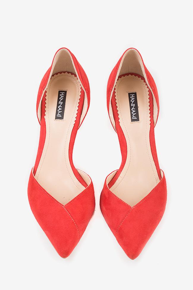 Pantofi decupati din piele intoarsa  Hannami imagine 2