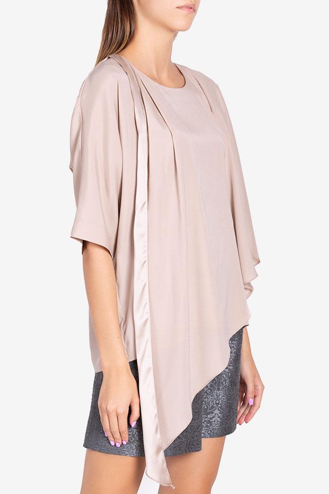 Asymmetric silk blouse Claudia Castrase image 0