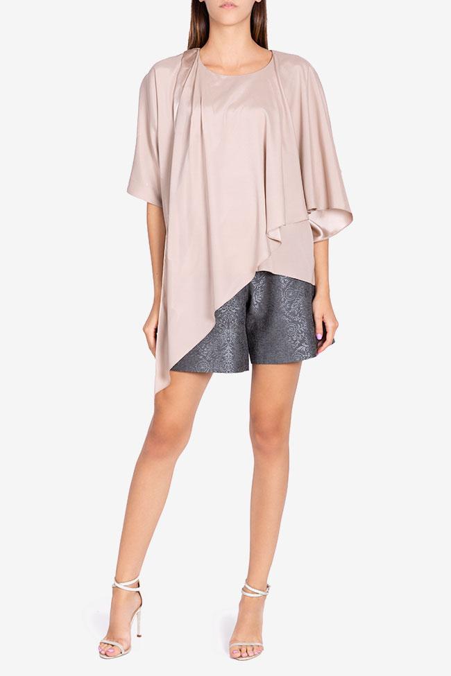 Asymmetric silk blouse Claudia Castrase image 1