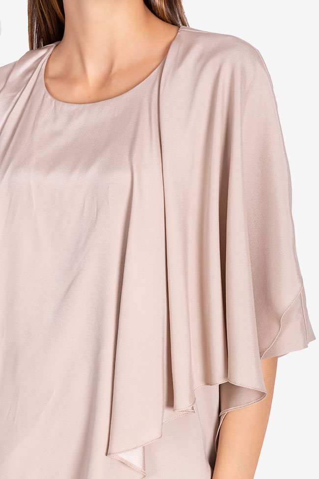 Asymmetric silk blouse Claudia Castrase image 3