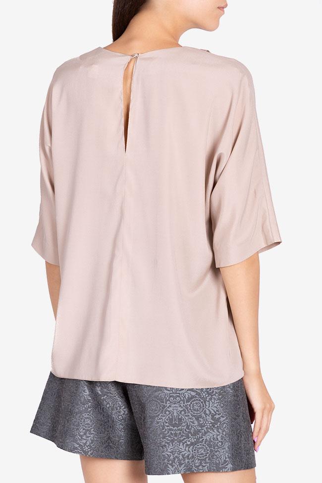 Asymmetric silk blouse Claudia Castrase image 2