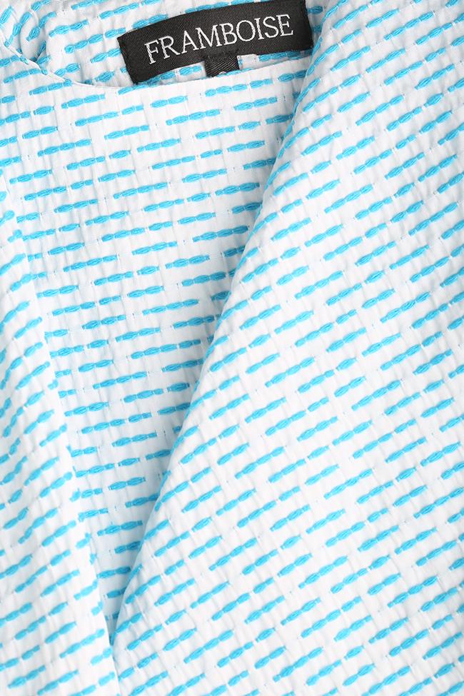 Rochie mini din bumbac Delin Framboise imagine 4