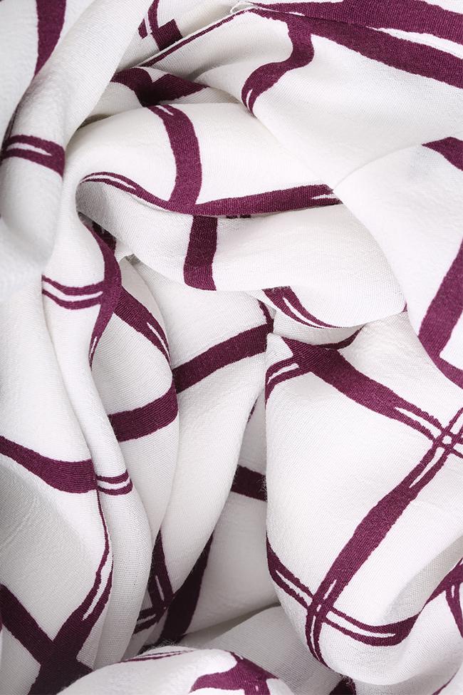Robe asymétrique Laina Framboise image 4