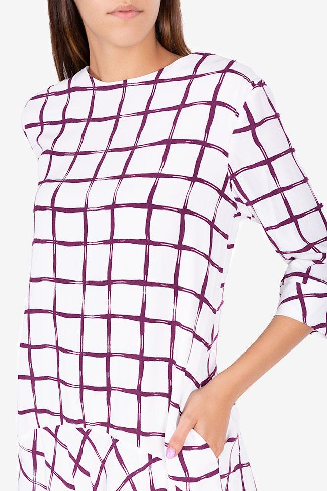Robe asymétrique Laina Framboise image 3