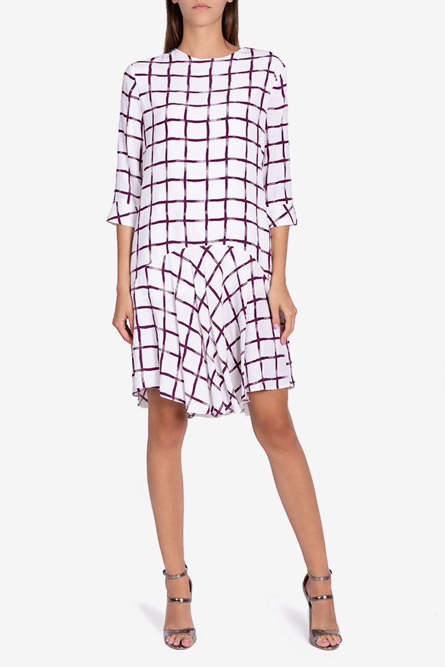 Robe asymétrique Laina Framboise image 1