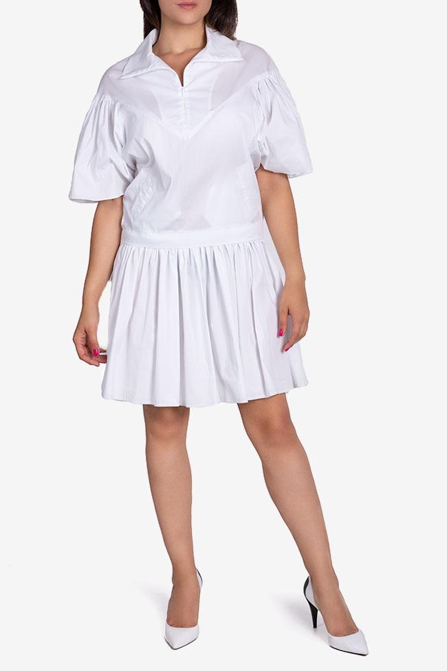 Robe en popeline de coton avec plis Larisa Dragna image 1